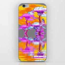 PURPLE-WHITE IRIS MOON REFLECTION iPhone Skin