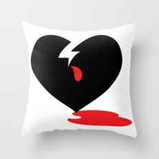 Empty Hearted Throw Pillow