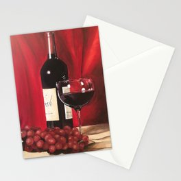 Red Wine, Still Life Stationery Cards