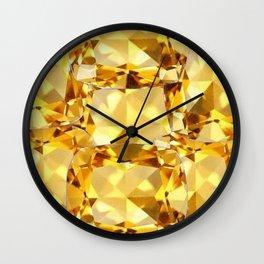 CHAMPAGNE TOPAZ GEM SEPTEMBER BIRTHSTONE ART Wall Clock