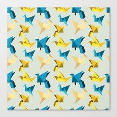 paper cranes in flight Canvas Print