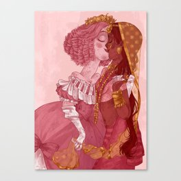 Be my Valentine - Girls Canvas Print