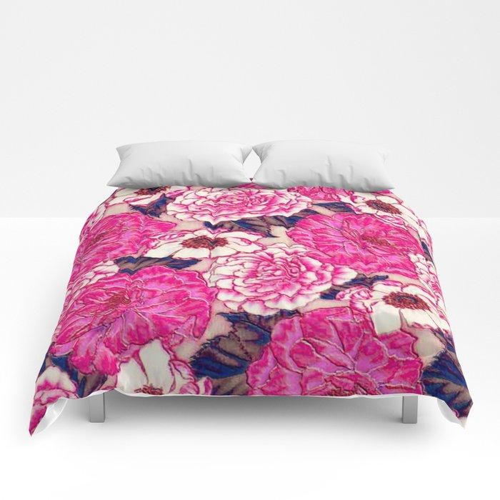 enamel floral Comforters