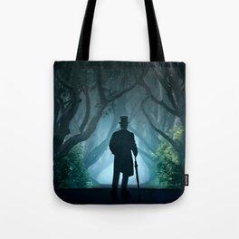 Morning visit in cold Dark Hedges Tote Bag