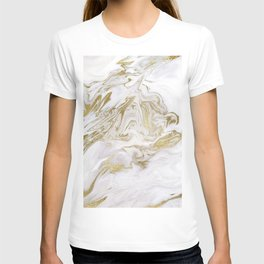 Liquid gold marble II T-shirt