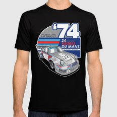 PORSCHE - 911 RSR GROUP S Mens Fitted Tee LARGE Black