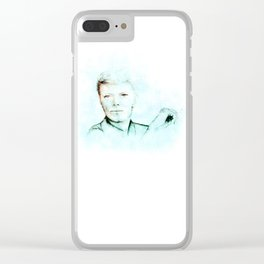 Abstract Bowie with a Cig 2 Clear iPhone Case