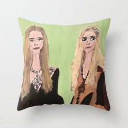 MaryKate and Ashley at Met Gala Throw Pillow