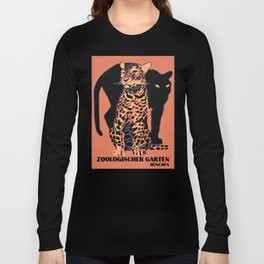 Retro vintage Munich Zoo big cats Long Sleeve T-shirt
