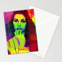 Pensive Beauty Stationery Cards