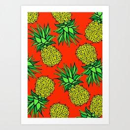 Pineapple Madness Art Print