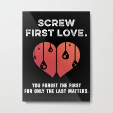 First Love [WHITE] Metal Print
