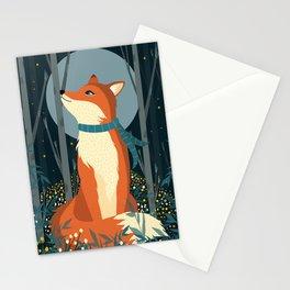 Fox Print, Woodlands Nursery Decor, Fox wall art, woodland print, Animals Print, forest print Stationery Cards