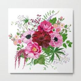 Burgundy bouquet Metal Print