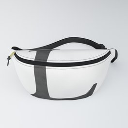 Letter L Initial Monogram Black and White Fanny Pack