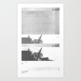 UFO Glitch Art Print