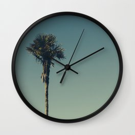 Vintage Film style Palm tree Wall Clock