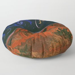 Uluru by Night Floor Pillow