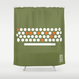 The Ernie Pyle WWII Muesum Shower Curtain