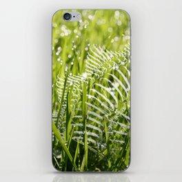 fan in the grass iPhone Skin