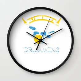 All I Care About Is Drumming Drummers Music Lovers Musicians Drums Rock Bands Gift Wall Clock