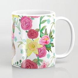 Easter rabbit floral beauty Coffee Mug