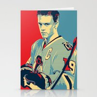 blackhawks Stationery Cards featuring Towes One Goal by Thousand Lines Ink