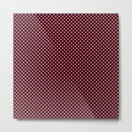 Black and Wild Watermelon Polka Dots Metal Print