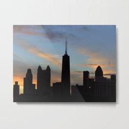 Chicago, (Footprint series) #0424 Metal Print