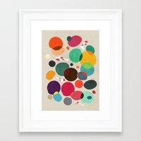 koi Framed Art Prints featuring Lotus in koi pond by Picomodi