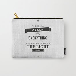 Leonard Cohen, Motivational Quote Carry-All Pouch