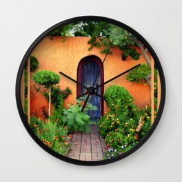 Garden Delights, Mesilla, NM Wall Clock