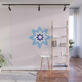 Blue flower 3 Wall Mural