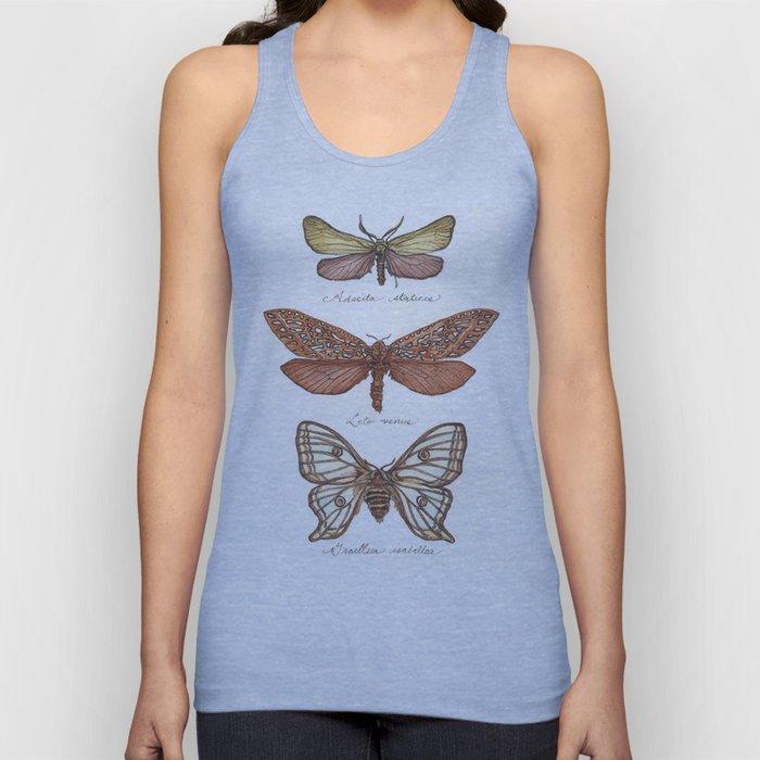 Forester Moth, Venus Moth & Spanish Moon Moth Unisex Tank Top