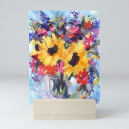 Sensational Sunflower Bouquet Mini Art Print