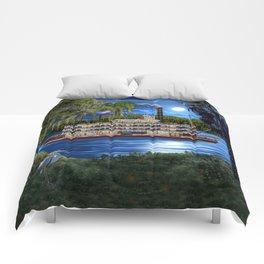 Mystcal Moonlight Cruise Down the Bayou Comforters