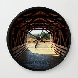 Southern Stroll: Bridge Across the Chattahoochee Wall Clock