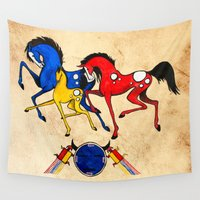 navajo Wall Tapestries featuring Navajo Horse Family by Fallen Apple Designs