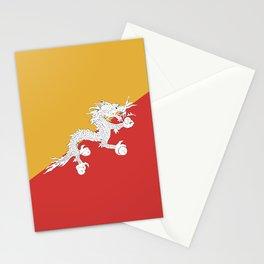 Bhutan flag emblem Stationery Cards