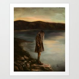 Something About Silence Art Print