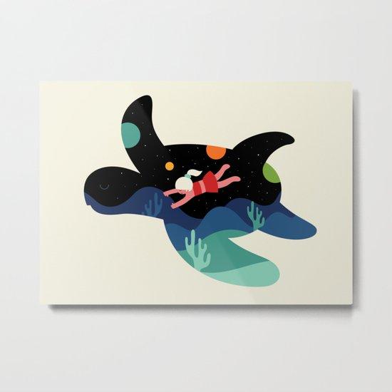 Ocean Roaming Metal Print