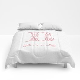 B Scallop: Pink Comforters