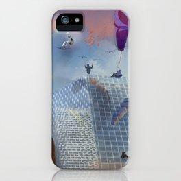 Dream Gliding Cityscape Flash iPhone Case