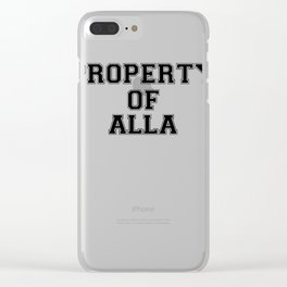 Property of ALLA Clear iPhone Case