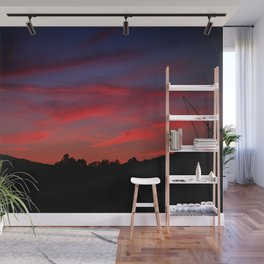 Red sunset - Poland - Landscape and Rural Art Photography Wall Mural