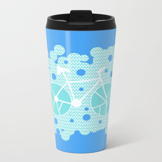 Bubbly bike Metal Travel Mug
