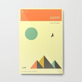 EGYPT TRAVEL POSTER Metal Print