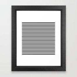White Black Stripe Minimalist Framed Art Print
