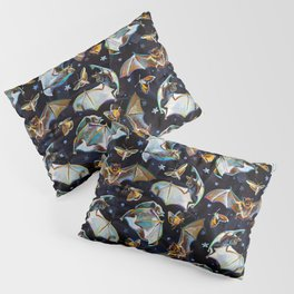 Psychedelic Flying Bats and Moths Pattern Pillow Sham