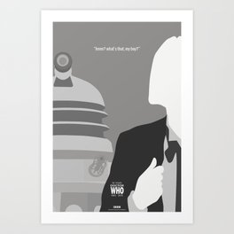 """Doctor Who 50th Anniversary Posters - """"The 1st Doctor"""" Art Print"""